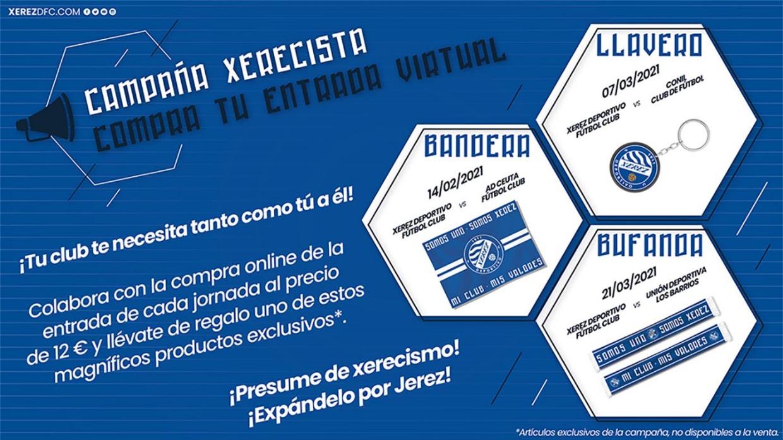 ENTRADAS VIRTUALES - XEREZ DEPORTIVO FC - CONIL CF