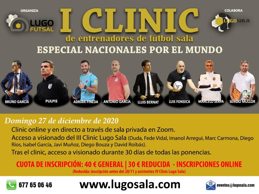 CLINIC ONLINE LUGO FUTSAL/ LUGO SALA ESPECIAL ENTRENADORES NACIONALES DE FÚTBOL SALA POR EL MUNDO